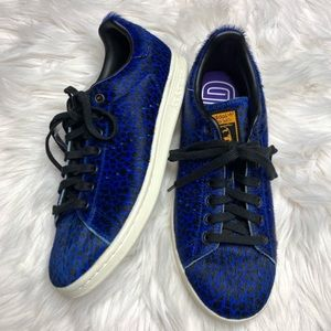 Adidas STAN SMITH BOLD Blue ANIMAL PRINT Fur 9